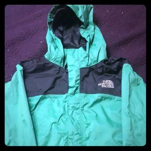 Black and green north face jacket !